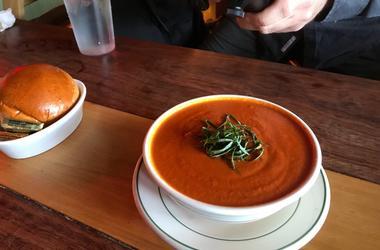 Tomato bisque at Farmhouse Cafe & Eatery Tomato Soup Farmhouse