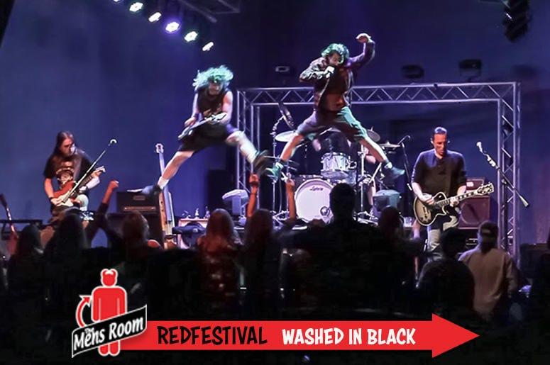 Mens Room Redfestival; Washed in Black