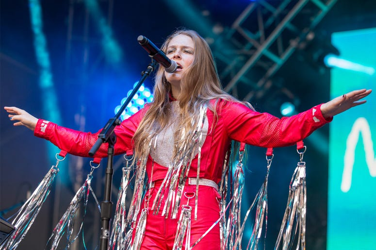 Maggie Rogers during Outside Lands Music Festival at Golden Gate Park on August 13, 2017, in San Francisco, California (Photo by Daniel DeSlover/imageSPACE)
