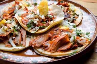 Traditional mexican food, tacos al pastor