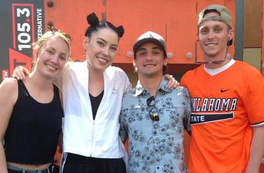 CONCORD, CA - SATURDAY, MAY 13, 2018 - ALT 105.3 artist Bishop Briggs with fans at the Selfie Station in Concord Pavilion. (Photo credit: ALT 105.3)