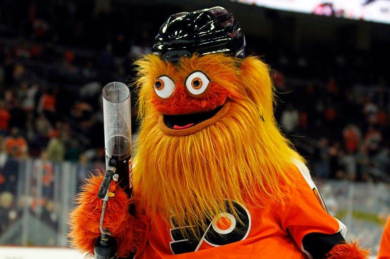 The Philadelphia Flyers mascot, Gritty