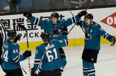 The Sharks won 2-1 to sweep the series.