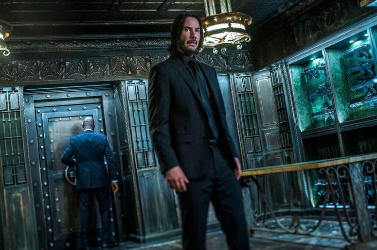 "Keanu Reeves in a scene from ""John Wick: Chapter 3 - Parabellum."""