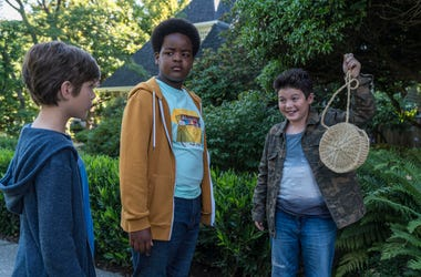"This image released by Universal Pictures shows Jacob Tremblay, from left, as Max, Keith L. Williams as Lucas and Brady Noon as Thor in the film, ""Good Boys,"" written by Lee Eisenberg and Gene Stupnitsky and directed by Stupnitsky. (Ed Araquel/Universal P"