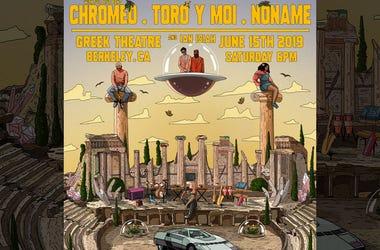 Toro y Moi, Chromeo and No Name