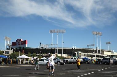 Oakland Coliseum parking lot