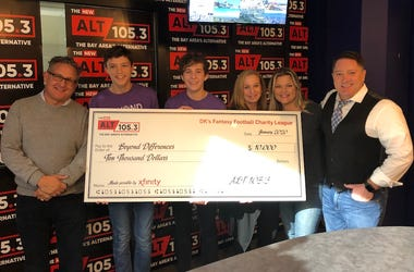 ALT 105.3 pledges $12.5K to charity