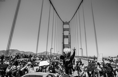 Golden Gate Bridge Protest