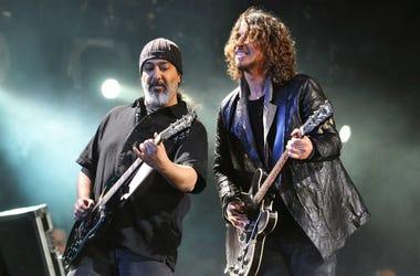 Kim Thayil and Chris Cornell of Soundgarden