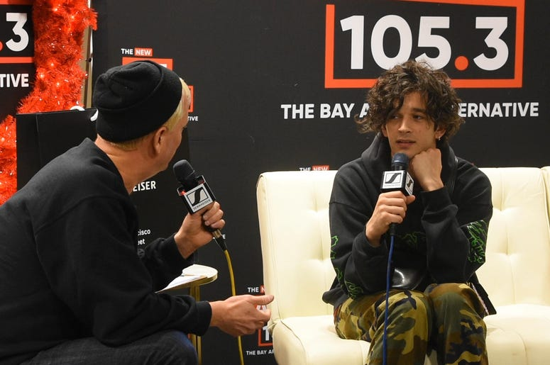 Matty Healy of The 1975 with Aaron Axelsen