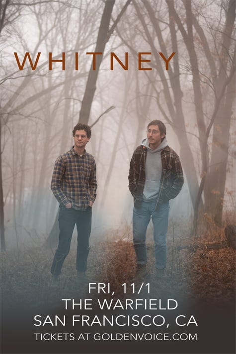 Whitney at The Warfield San Francisco