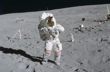John Young on the First Apollo 16 Spacewalk