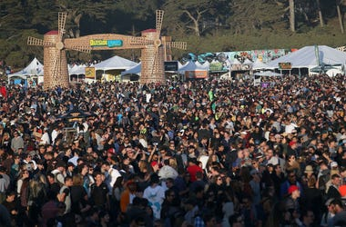 A view of the crowd at the Land's End stage during day one of the Outside Lands music festival at Golden Gate Park on August 8, 2014. The festival runs through Sunday. (Photo by Jane Tyska/Bay Area News Group/MCT/Sipa USA)