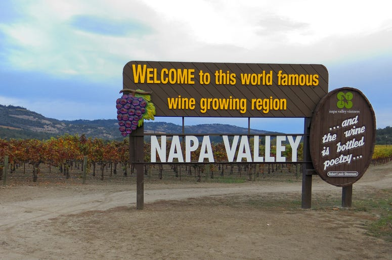 Napa Valley California Welcome Sign