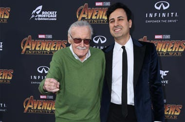 "23 April 2018 - Hollywood, California - Stan Lee. Disney and Marvel's ""Avengers: Infinity War"" Los Angeles Premiere held at Dolby Theater. Photo Credit: Birdie Thompson/AdMedia"