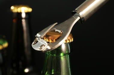 Opening beer