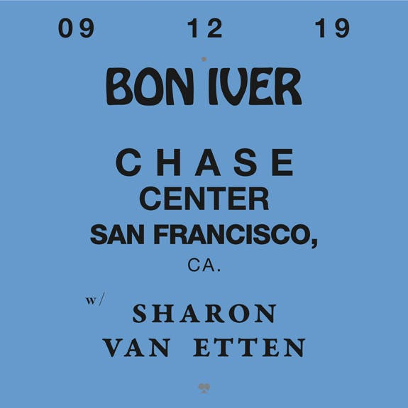 Bon Iver With Sharon Van Etten at The Chase Center!