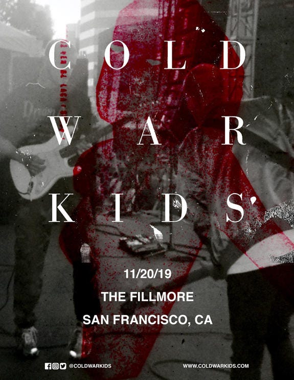 Cold War Kids at The Fillmore