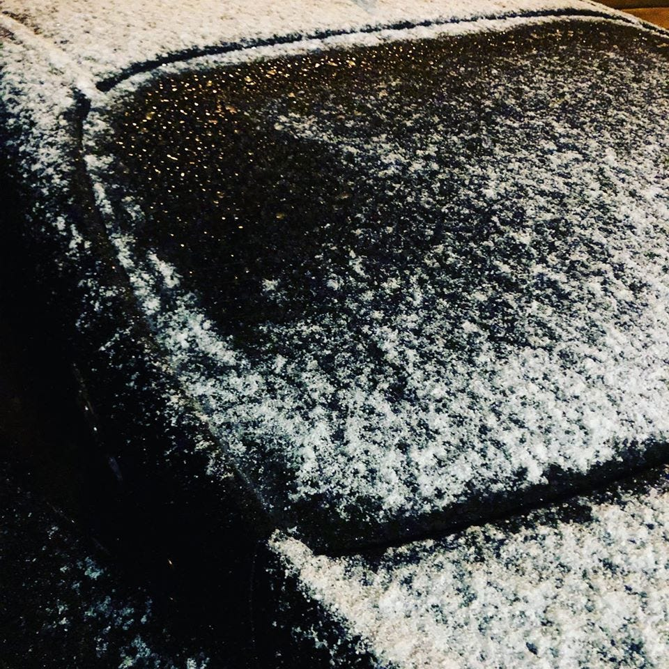 Light dusting of snow across Austin gives way to sunshine; 70s this