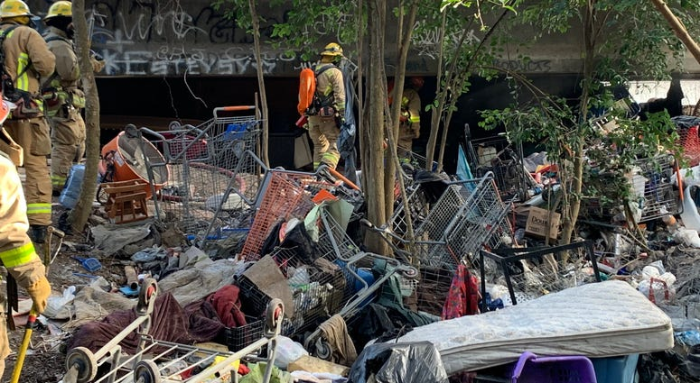 North Austin homeless camp