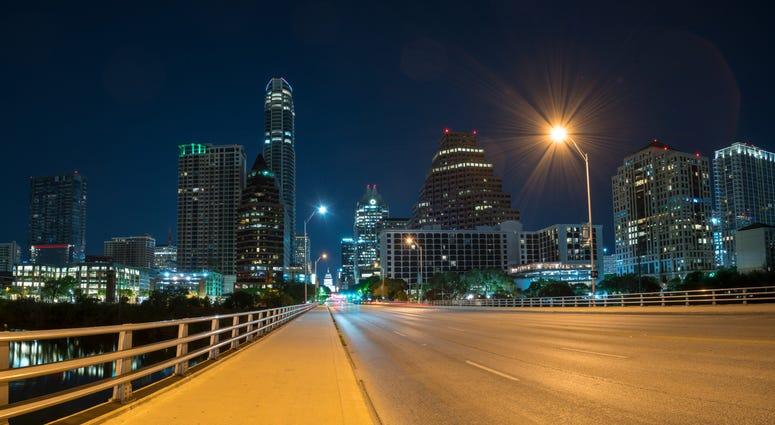 Austin Downtown Night Sky