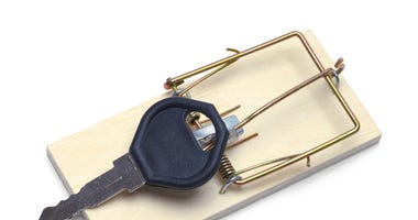 car key in a mouse trap