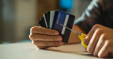 cutting up the credit cards