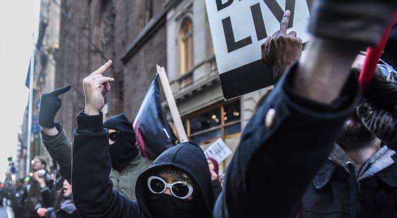 antifa mob