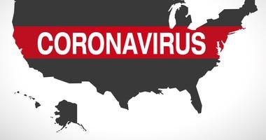 coronavirus graphic of world map