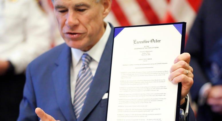 Texas Gov. Greg Abbott executive order