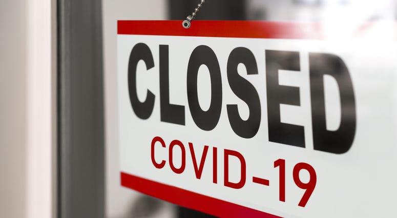 Coronavirus Closed Sign