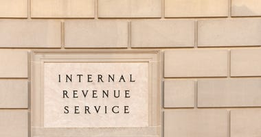 IRS sign on the IRS building