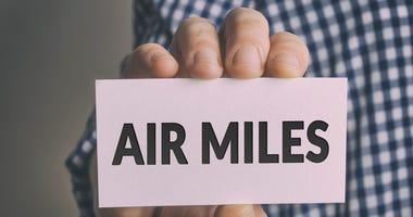 card that reads air miles