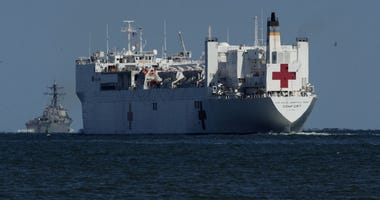 hospital ship at sea