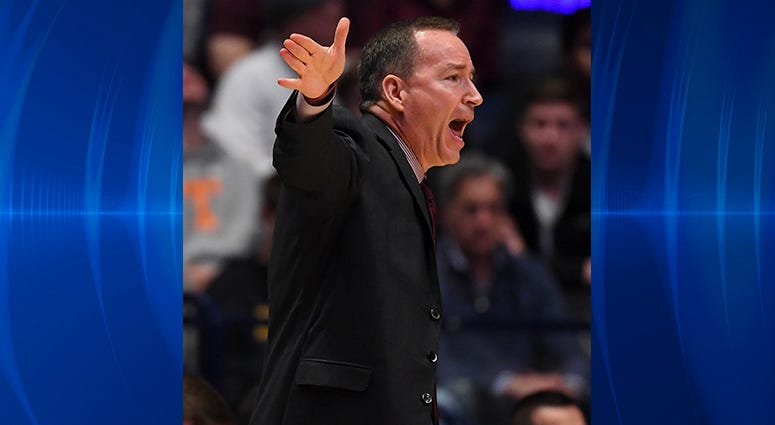 Texas A&M Aggies head coach Billy Kennedy during the first half against the Vanderbilt Commodores of the SEC conference tournament at Bridgestone Arena.