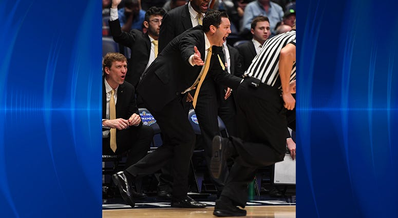 Vanderbilt Commodores head coach Bryce Drew reacts in a game against the Texas A&M Aggies during the second half of the SEC conference tournament at Bridgestone Arena.