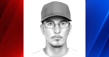 Sketch of hit-and-run suspect