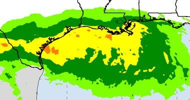 Tropical Depression 8 Rainfall Estimate as of Thursday 7/23