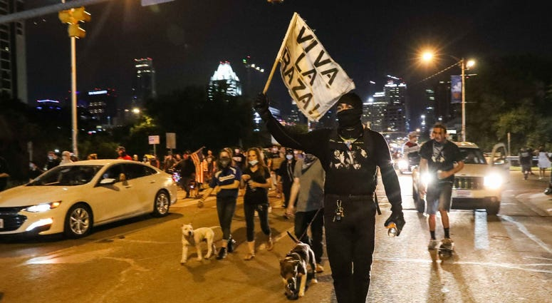 Protests in downtown Austin