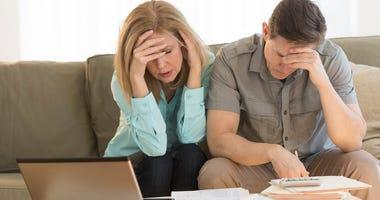 couple concerned about finances