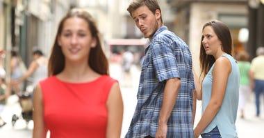 distracted dude