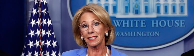 DeVos defends policy boosting virus aid for private schools