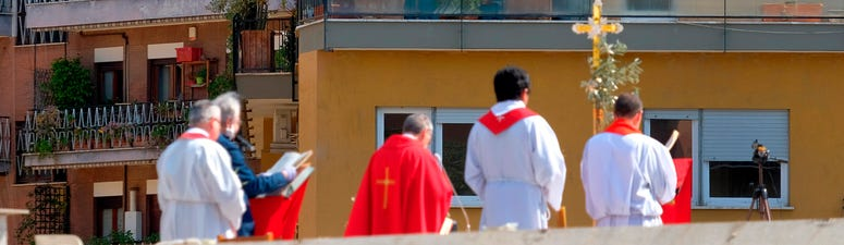 Palm Sunday services held without public; some on rooftops