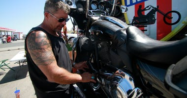 At Sturgis, Trump supporters look to turn bikers into voters