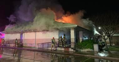 Westoaks Woods Baptist Church fire