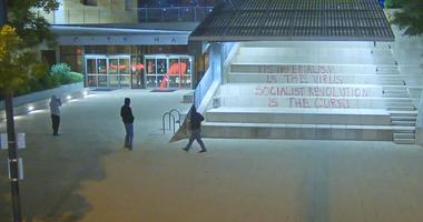 City Hall vandalism