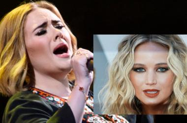 PA Images/Sipa USA (Adele); Anthony Behar/Sipa USA (Jennifer Lawrence)
