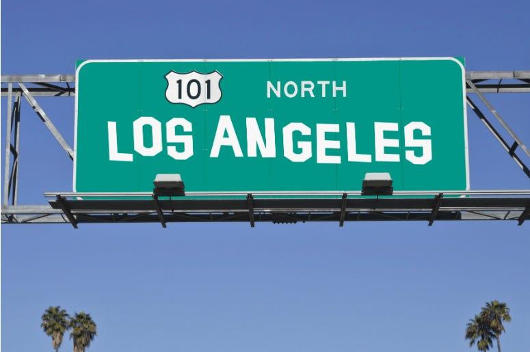 Protester,Sings,Polution,Dephree,110,Freeway,LA,Video,Viral,Backflip,Sign,100.3 Jack FM