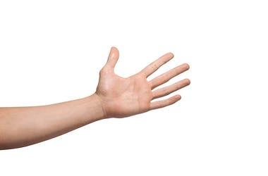Hand, Slap, Isolated, White Background